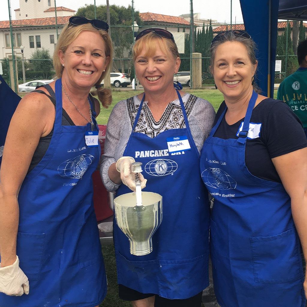 Kiwanis Club of La Jolla Pancake Breakfast Volunteers